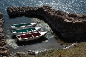 Taquile boats