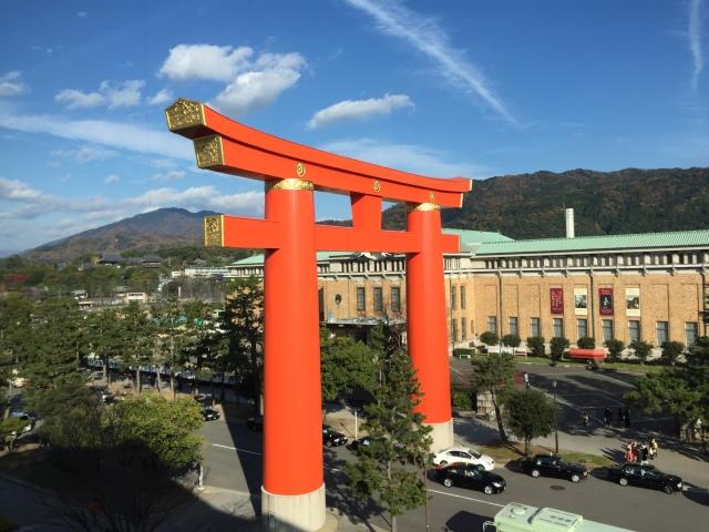 heian shrine torii gate