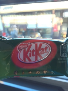 matcha kit-kat! so green but so good!