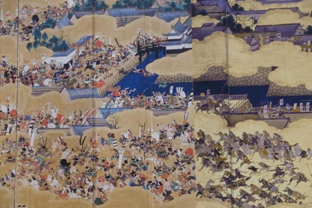 osaka castle painting