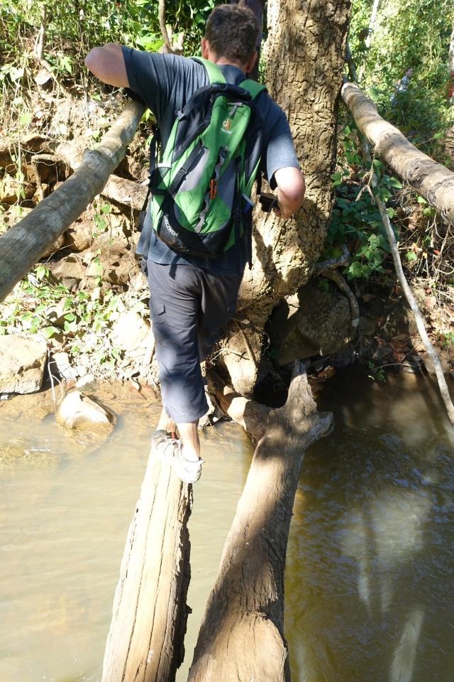 german on jungle bridge