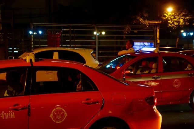 upset cab driver