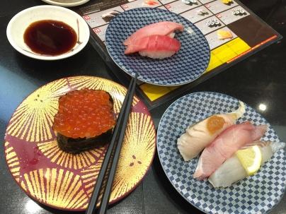 "tuna roe, ""extra fatty"" tuna, mackerel, monkfish, ??...."