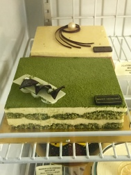 matcha mousse layer cake