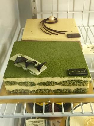 matcha mousse layer cake