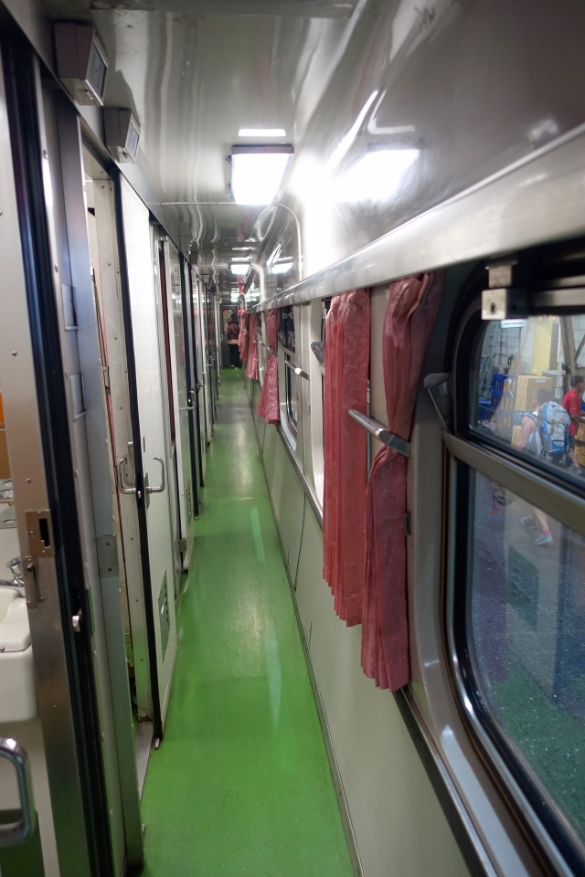 train car hallway