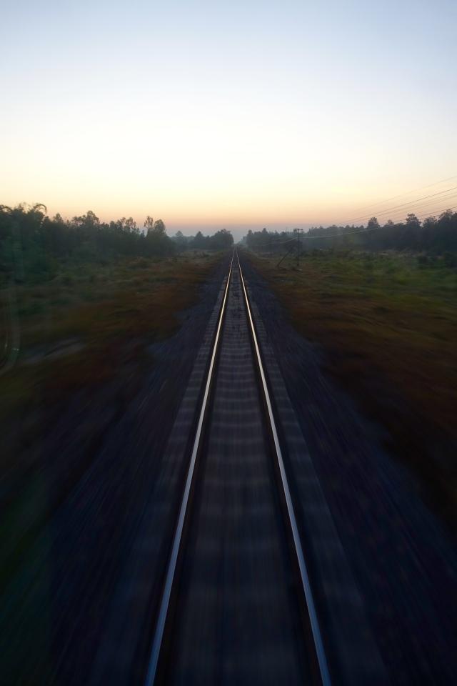 last car view - sunrise