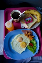 breakfast on train