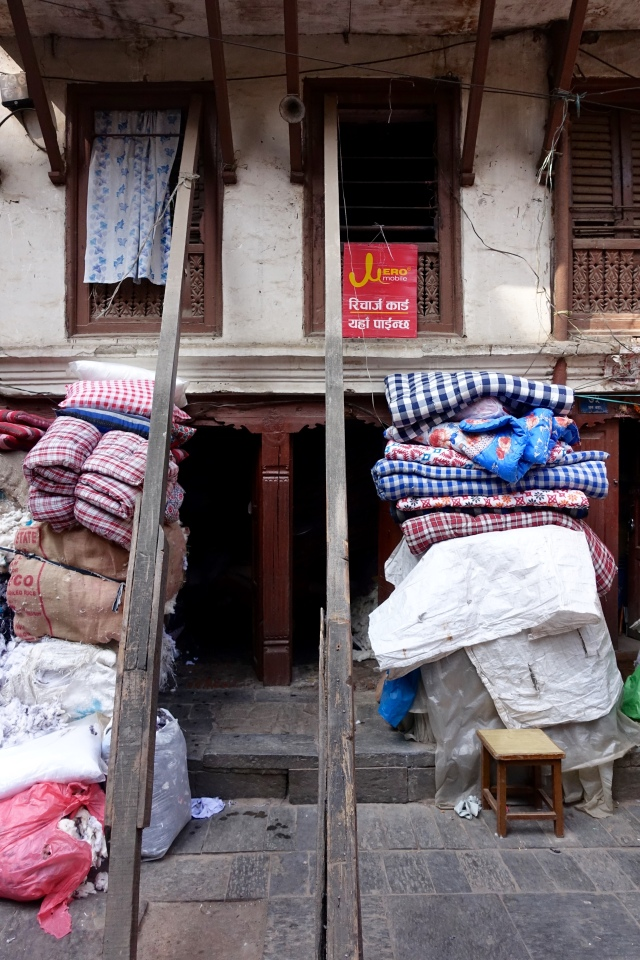 many of the houses in kathmandu have supports holding them up