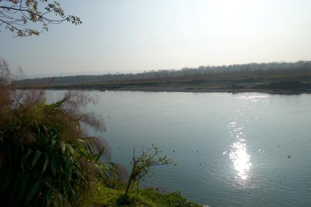 Rapti River, next to hotel