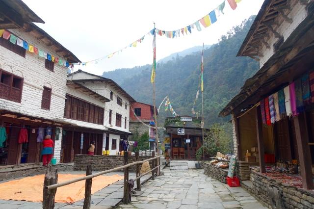 village on mountainside