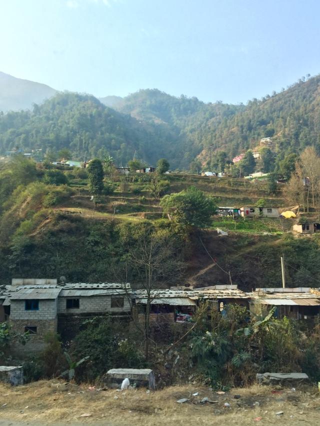 hillside, on road out of Kathmandu