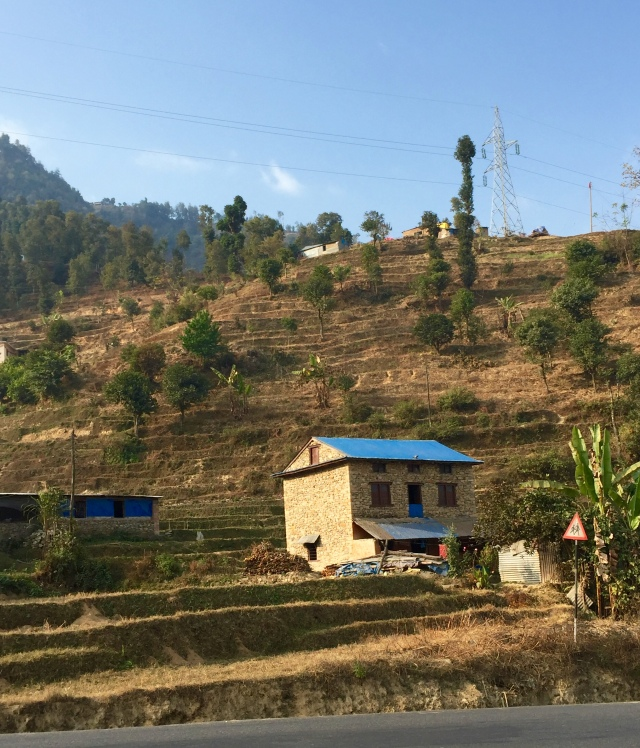 hillside, on road to Chitwan