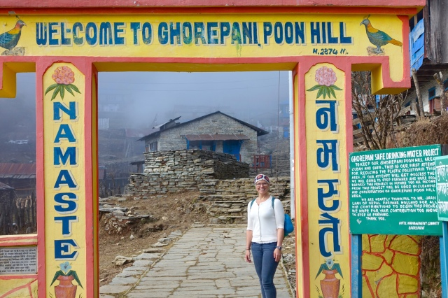 ghorepani arrival! walking done for the day!!!