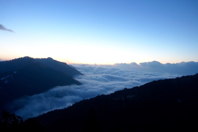 valley filled with milky fog