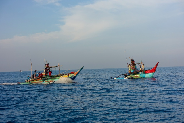 fishermen in indian ocean
