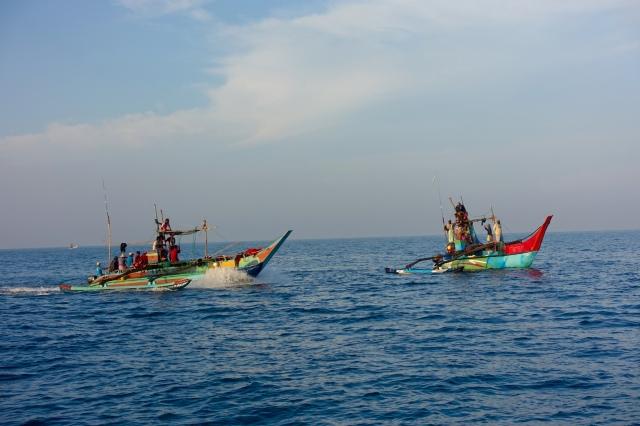 fishermen in indian ocean