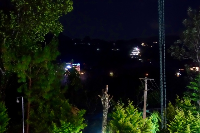 night view of hillside