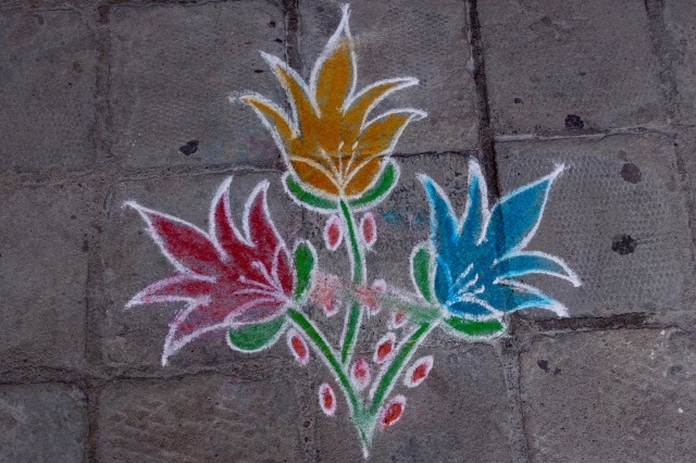 flower color kolam