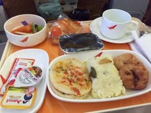 plane food - somewhere over India