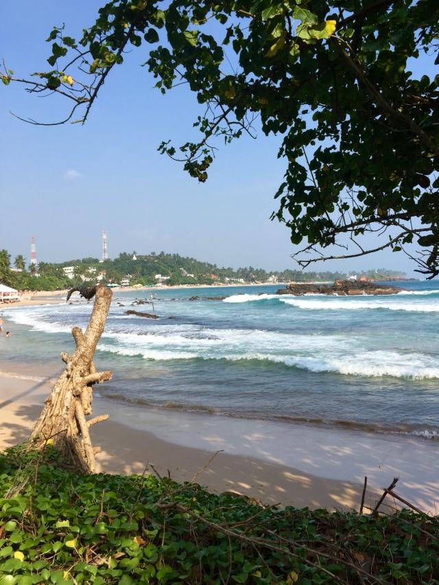 mirissa beach, by my hotel