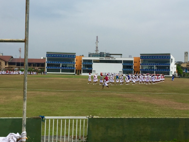 field day for girls at cricket stadium