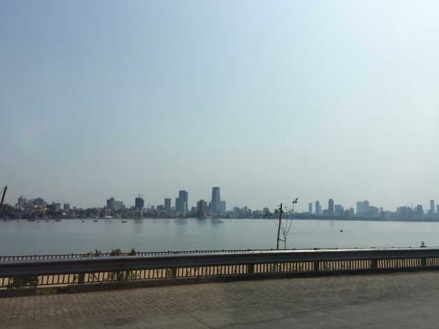 part of skyline - mahim bay, arabian sea, indian ocean