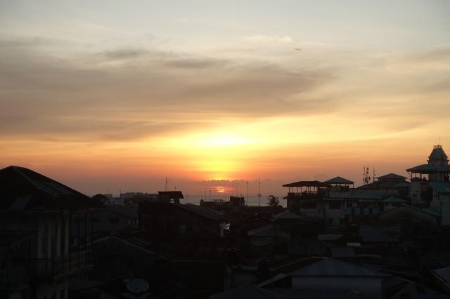 sunset stone town