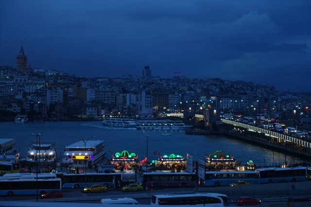 view of bosphorus straight from Hamdi Restaurant (old town side)