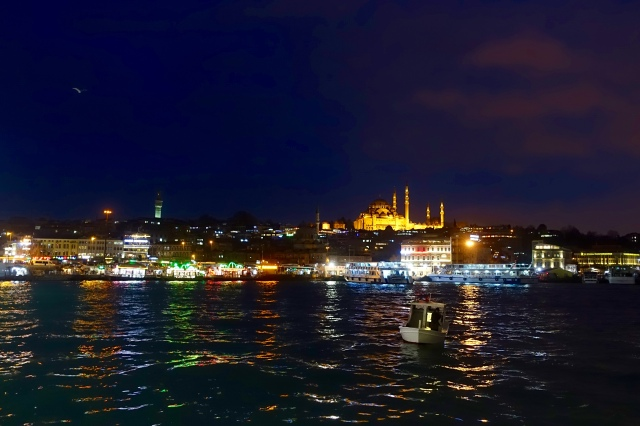 old town side, blue mosque across the bosphorus