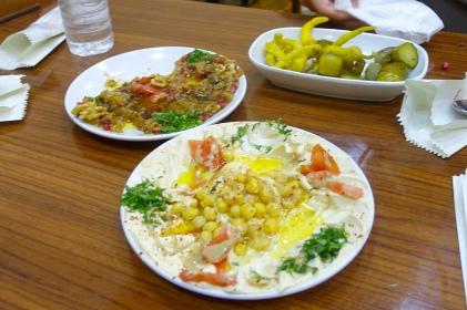 baba ganoush, hummus, pickles (Syrian restaurant)