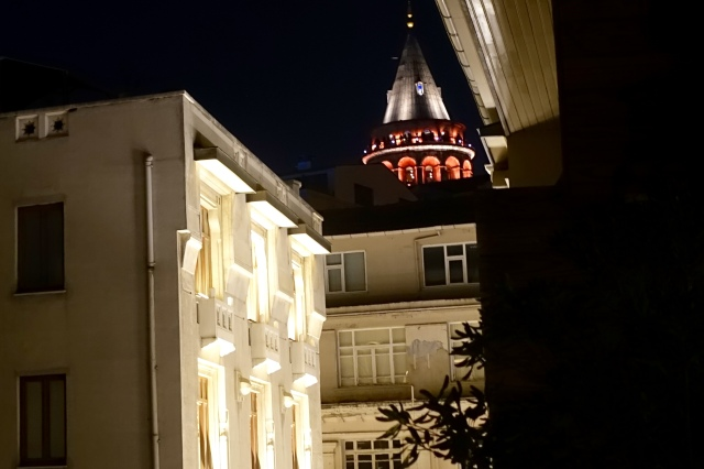 galata tower from vault karakoy hotel rooftop