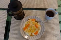 yogurt banana orange honey