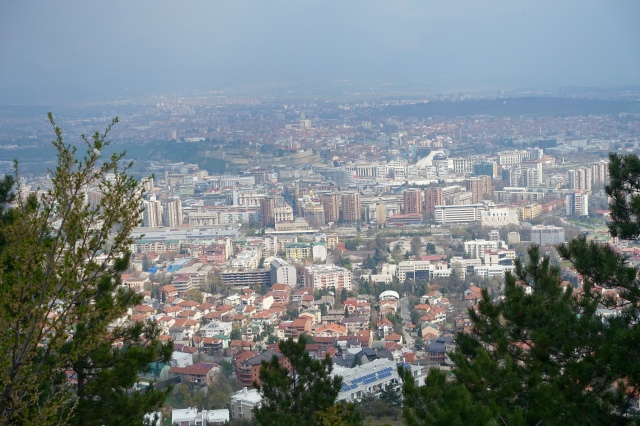 skopje from mount vodno