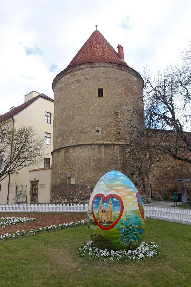 hand painted, local artists do these every easter outside of Zagreb Cathedral