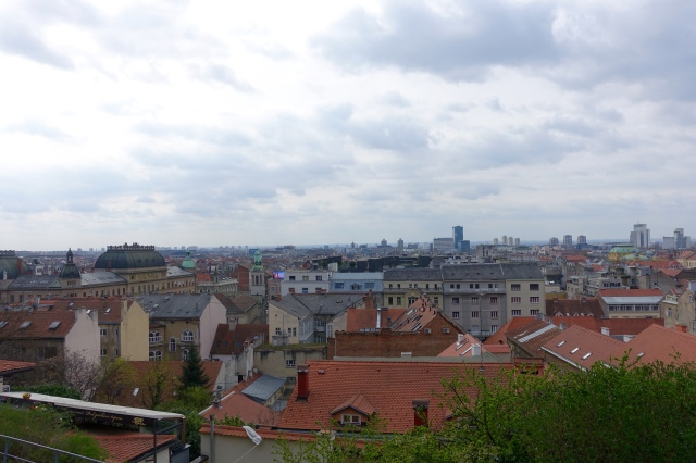view of zagreb from upper town