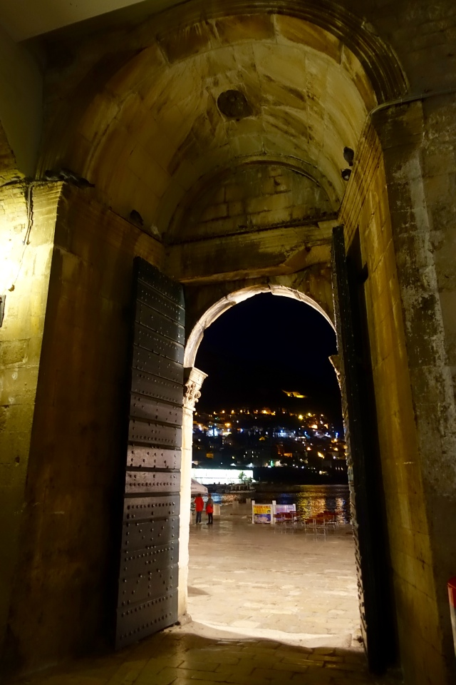 archway into the harbour area