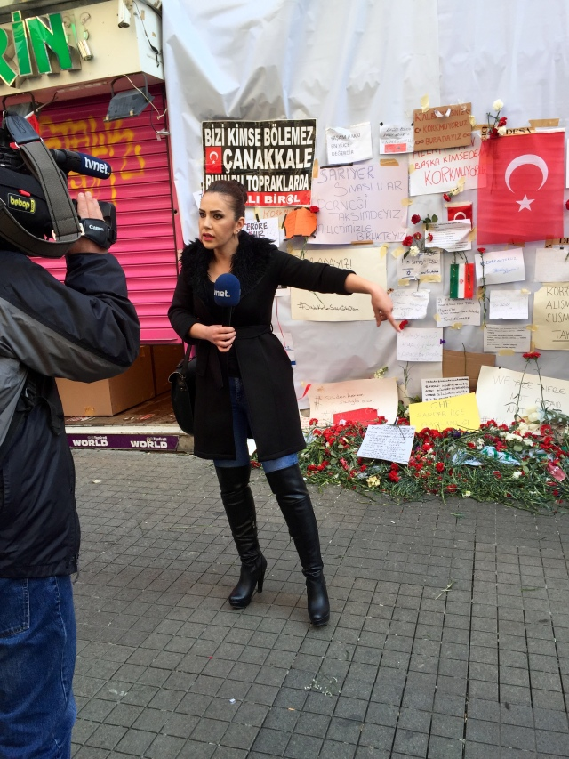 memorial for the victims of the suicide bomber on istiklal street