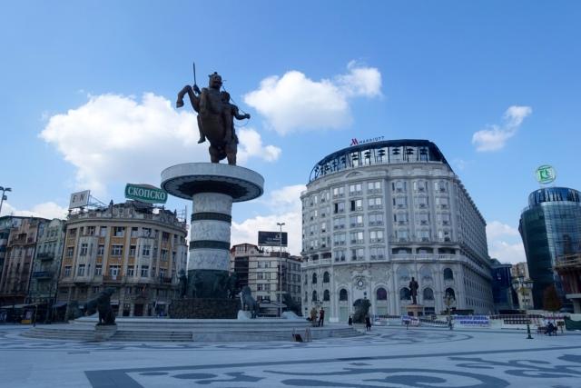 warrior on horse statue