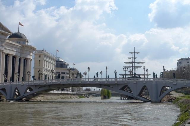 bridge across the vardar river