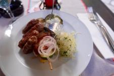 bosnian restaurant in croatia… ummm best sausage i've ever had. veal.
