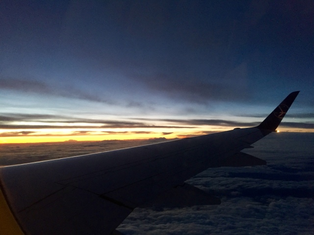 sunset/rise from a plane never gets old
