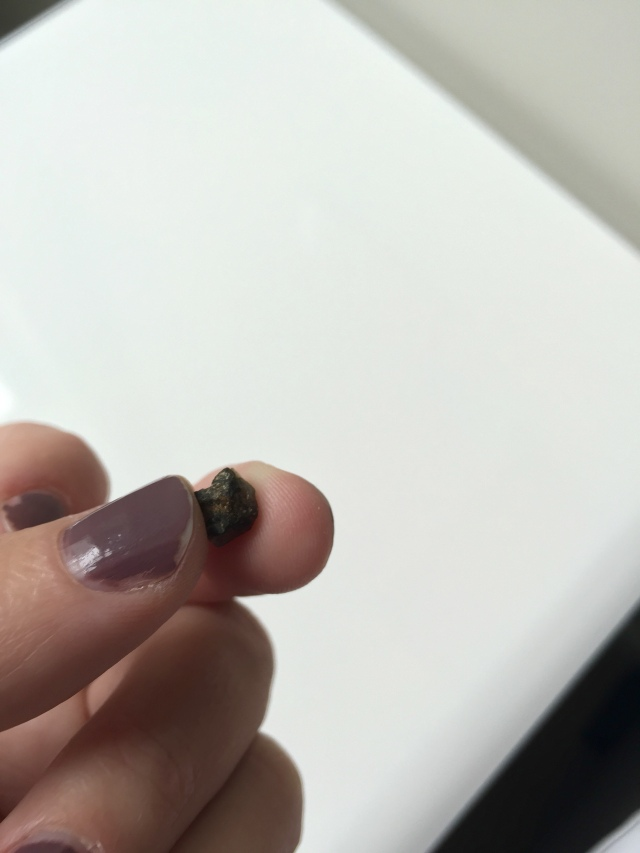 i found this rock inside one of my dried figs. it's a shame because the figs were really good. luckily, my slow chewing meant that no teeth were harmed when i bit this boulder.