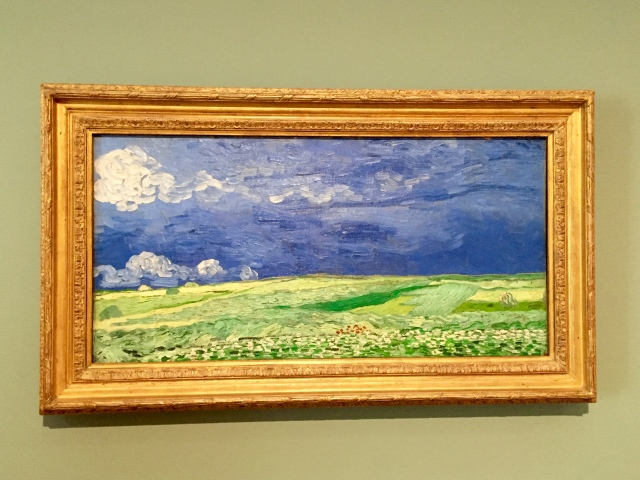 wheatfield under thunderclouds