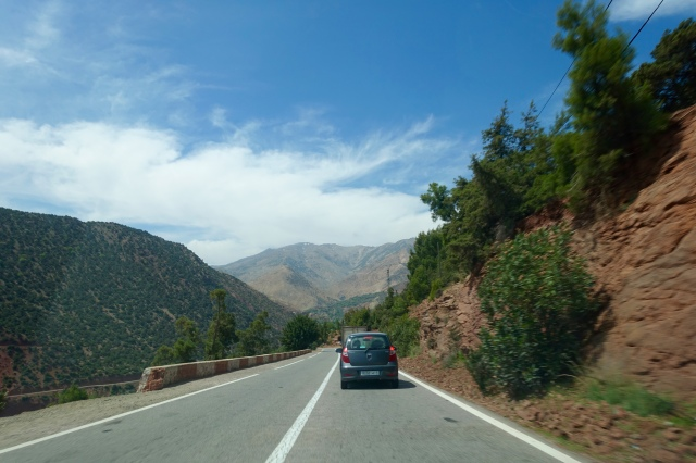 driving through atlas mountains