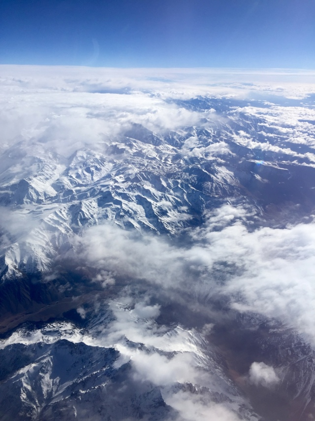 view of the andes from above