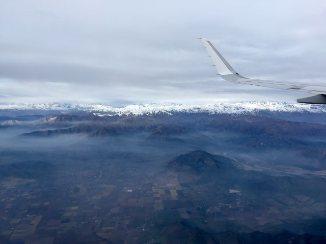 view from plane, to Punta Arenas