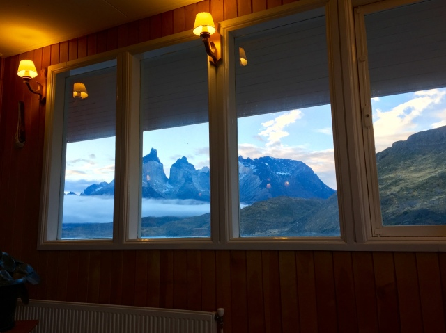 view of mountains from hotel restaurant