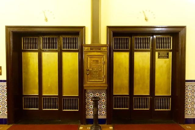 Vintage elevators! (wes anderson elevators)