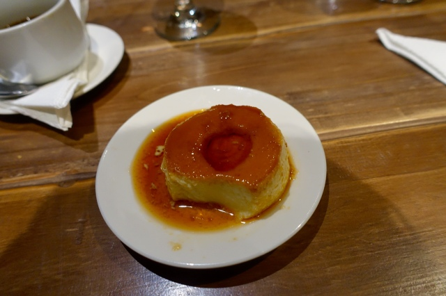 Flan and cuban coffee. Yumm
